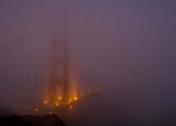 San Francisco- Golden Gate Bridge in the fog. 7/26/2009 Jim Urquhart/straylighteffect.com