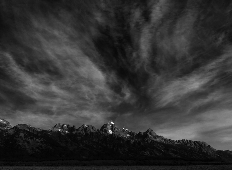 The Grand Tetons. Teton National Park outside Jackson Hole, Wyoming. 8/29/2009 Jim Urquhart/Straylight.com