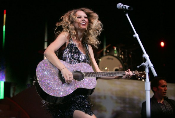 Country music star Taylor Swift sings Tuesday, May 26, 2009 at EnergySolutions Arena. Approximately 14,000 turned out for the sold out show as part of her Fearless Tour. Jim Urquhart/The Salt Lake Tribune; 5/26/09