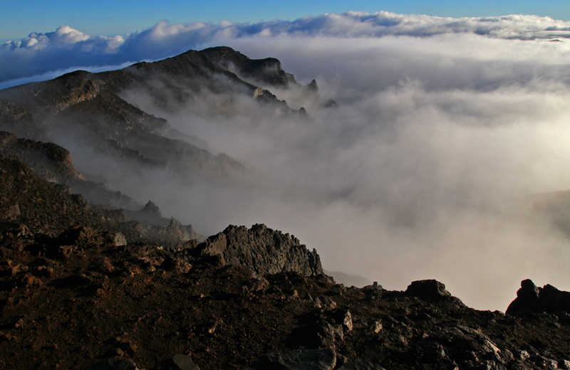 Sunrise atop 10,023 foot Haleakala Volcano Crater on the Island of Maui- Photo by Jim Urquhart/Straylighteffect.com